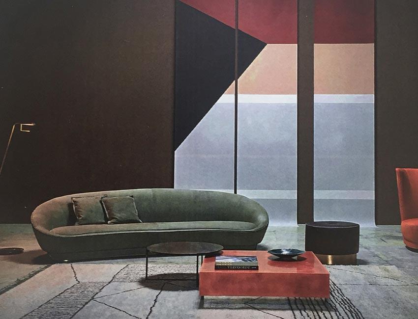 JANETTE sofa | Milano furniture fair | design Roberto Lazzeroni for Baxter 2016
