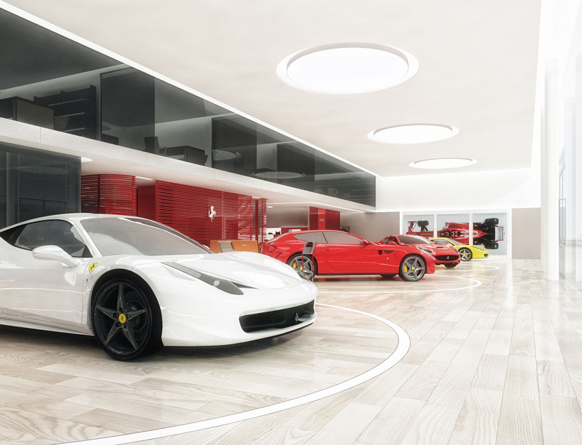 FERRARI concept showroom | Maranello | Roberto Lazzeroni for Ferrari 2016