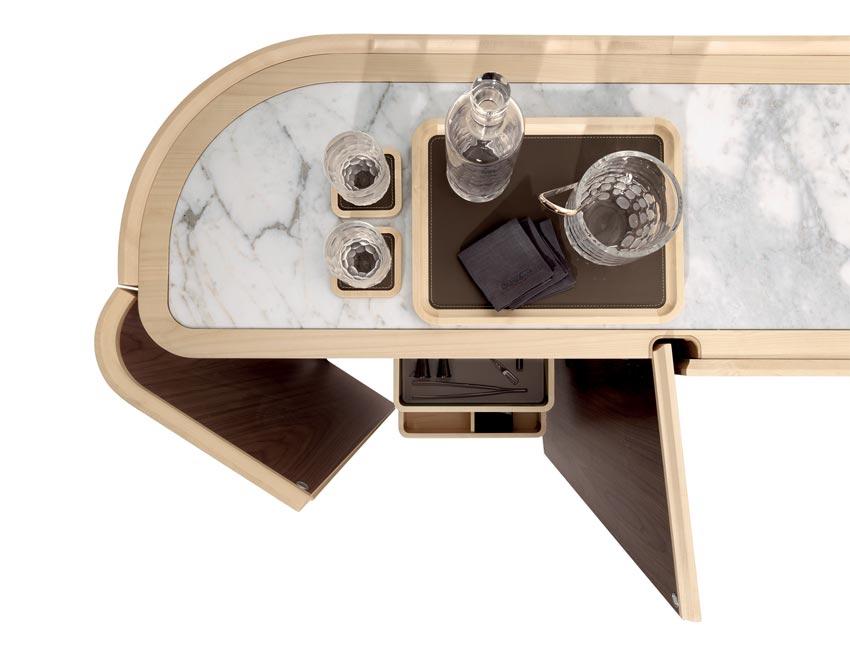MOORE cabinet | Milano furniture fair | design Roberto Lazzeroni for Giorgetti 2017