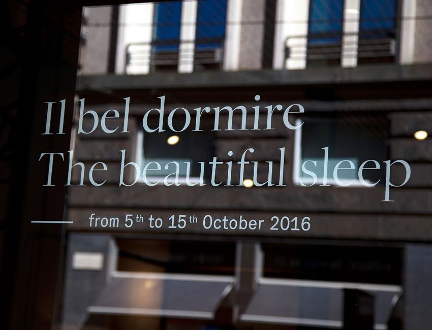 THE BEAUTIFUL SLEEP   showroom Poltrona Frau via Manzoni Milano   Roberto Lazzeroni for Poltrona Frau 2016