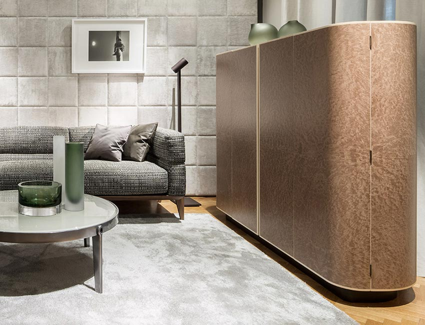 MOORE cabinet | Milano furniture fair | design Roberto Lazzeroni for Giorgetti 2016
