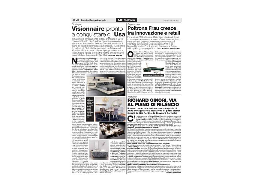 Editorials | La repubblica | Il Venerdi' |  Milano Finanza | 2017