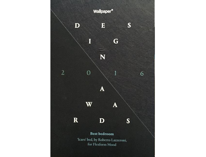 ICARO bed | best bedroom awards Wallpaper* magazine | 2016